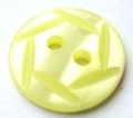 15mm Hexagon Top Lemon Sewing Button