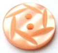 15mm Hexagon Top Peach Sewing Button