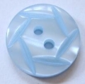 18mm Hexagon Top Light Blue Sewing Button