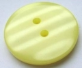 15mm Shadow Stripe Lemon Sewing Button