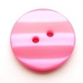 15mm Shadow Stripe Cerise Sewing Button