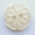 15mm Cutout Daisy Cream Sewing Button