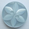 100 x 14mm Star Center Light Blue Sewing Buttons