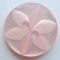100 x 14mm Star Center Pink Sewing Buttons