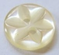 100 x 14mm Star Center Cream Sewing Buttons