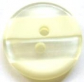 12mm Stripe Cream Sewing Button