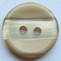 15mm Stripe Caramel Sewing Button