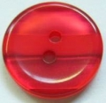 15mm Stripe Red Sewing Button