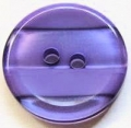 15mm Stripe Purple Sewing Button