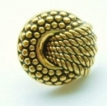 15mm Rope knot Gold Sewing Button