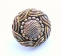 18mm Gold Round Fancy Sewing Button