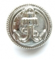 19mm Silver Anchor Sewing Button