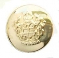 21mm Military Style Gold Sewing Button