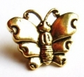 Novelty Button Butterfly Gold 16mm