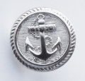 15mm Silver Anchor Sewing Button