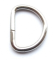 Metal D Ring Silver 40mm