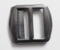 Waistcoat Buckle Slider Fastener 22mm Black Metal