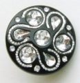 15mm Diamante Effect Round Sewing Button