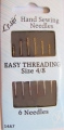 Easy Threading Sewing Needles Size 4-8