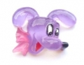 Card Making Craft Button Dog Head Lilac 16mm