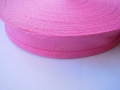 Cotton Bias Binding Bright Pink 25mm x 50m
