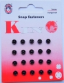 Poppers Snap Fasteners Black 5mm Size 000