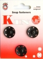 Poppers Snap Fasteners Black 19mm Size 10