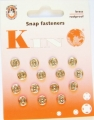 Poppers Snap Fasteners Silver 7mm Size 0