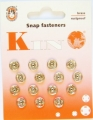 Poppers Snap Fasteners Silver 8mm Size 1