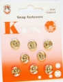 Poppers Snap Fasteners Silver 11mm Size 3