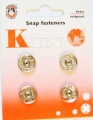Poppers Snap Fasteners Silver 14mm Size 7