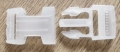 Side Release Buckle Clear White 20mm