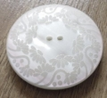 44mm Large Floral Cream Button