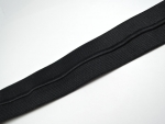Black Piping Cord Folded Flat Elastic 40mm