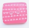 Rectangle Shape Red White Sewing Button 13mm