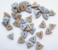 15mm Stone Like Grey Triangle Sewing Button