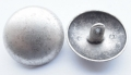 Metal Button Silver Dome Shank 25mm