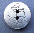 12mm Anchor Silver Sewing Button 0068
