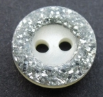 Silver Glitter Edge Sewing Button 13mm