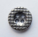 12mm Silver 4 Hole Metal Button