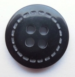 13mm Black 4 Hole Sewing Buttons 9257