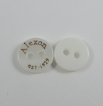10mm ALEXON est 1929 White Sewing Button 4 Hole