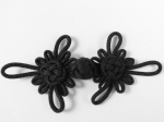 Black Frog Fasteners Clasp 35mm Fabric 2 Piece Set