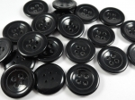 25mm Black Sewing Button 4 Hole