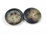 17mm BARBOUR Aran Brown Sewing Button 4 Hole
