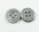 13mm ENGLAND Grey Sewing Button 4 Hole