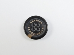 BARBOUR LAND ROVER Coat Jacket Dark Brown Sewing Button 4 Hole 21mm