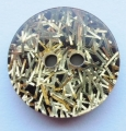 16mm Black Gold Tinsel Sewing Button