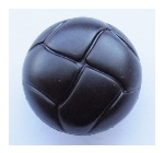 Leather Look Shank Sewing Button 21mm Black
