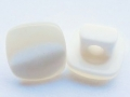 10mm Square Pearl Cream Shank Sewing Button